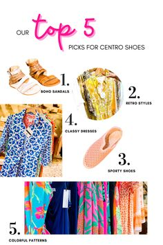Retro + Color for summer at Centro Shoes Retro Fashion, Boho Fashion, Fashion Shoes, Her Style, Cool Style, Myrtle Beach Things To Do, Boho Sandals, Retro Color, Trendy Tops