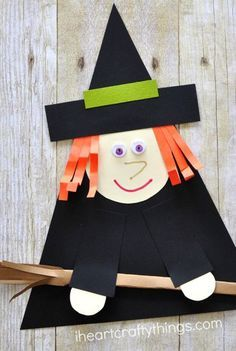 Halloween Crafts For Toddlers, Toddler Halloween, Halloween Crafts For Kids, Paper Crafts For Kids, Halloween Activities, Toddler Crafts, Preschool Crafts, Crafts Toddlers, Art Activities