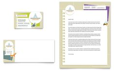 Kindergarten Business Card & Letterhead Template Design | StockLayouts