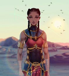Art by . ( is a platform dedicated to celebrating anime / manga media that features PoC,… Black Girl Art, Black Women Art, Black Girl Magic, Art Girl, Black Art, Black Anime Characters, Fantasy Characters, Female Characters, Female Character Design