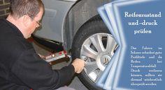 Reifendruck  Die Reifen eines Fahrzeugs müssen ausreichend gefüllt sein, um die bestmögliche Leistung und Haltbarkeit der Straße zu gewährleisten. Jedes Mal, wenn die Temperatur um 6 Grad Celsius sinkt, sinkt der Reifendruck um ein Pfund pro Quadratzoll. Fachleute schlagen deshalb vor, den Druck Ihrer Reifen von 2 bis 4 Pfund pro Quadratzoll während des Winters zu erhöhen. #winterreifen