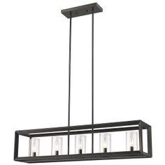 BELDI St-Louis 5-Lights Black Frame Chandelier with Clear Shade 8056-H5 at The Home Depot - Mobile