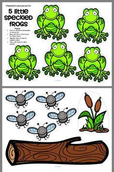 Frogs Preschool, Preschool Songs, Preschool At Home, Preschool Themes, Preschool Lessons, Preschool Classroom, Frog Theme Classroom, Classroom Ideas, Book Activities