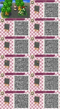 Cute Qr Codes Mossy Spaced Out Brick Path Rocks/ Stepping Stones Set with Stone Path Qr Brick Path, Stone Path, Acnl Pfade, Acnl Paths, Motif Acnl, Ac New Leaf, Happy Home Designer, Animal Crossing Qr Codes Clothes, Post Animal
