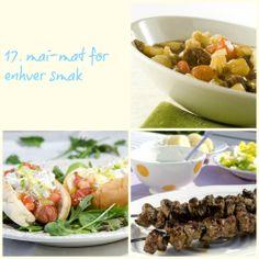 Tips til koldtbord, lapskaus, pølser og lammespyd på grillen og kaker. FruTimian