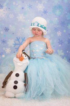 Newborn Size 12 Frozen Elsa Inspired Tutu Dress by krystalhylton