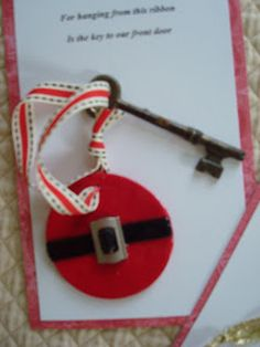 What do you do if you don't have a chimney for Santa to come down? Hang a magic key on your front door of course. Here are two versions of ...