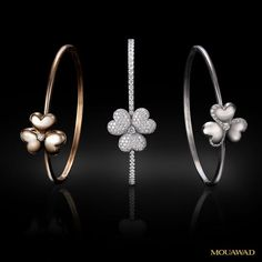 Best Diamond Bracelets  :   Mouawad Flower of Eternity Bangles    - #Women'sBracelets