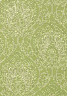 Rio #wallpaper in #green from the Artisan collection. #Thibaut