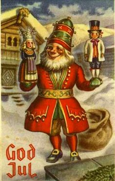 Julekort Harald Damsleth Merry Christmas And Happy New Year, Christmas Elf, Vintage Christmas, Norwegian Christmas, Scandinavian Christmas, Scandinavian Countries, Vintage Postcards, Elves, Superhero