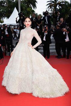 Thai actress Araya Hargate in Ashi Studio gown #Cannes2015   - HarpersBAZAAR.com