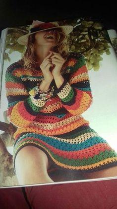 Crochê Magda Faria : Vestido Eliana