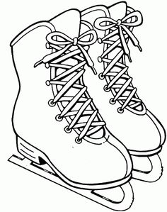 Ice skates - Winter - Free Printable Coloring Pages