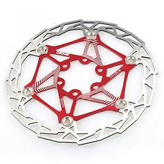 Bike Brake Rotors - Gymforward Stainless Steel Floating Bicycle Disc Brake 160MM Bike Rotor Mountain Cycling Parts Accessorie Red ** Visit the image link more details.