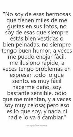 Me describieron :v Poetry Quotes, Book Quotes, Life Quotes, Sweet Words, Love Messages, Love Letters, Spanish Quotes, Cool Words, Book Lovers