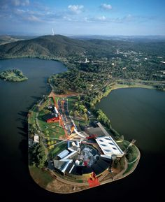 Aerial view of the National Museum of Australia. Canberra 99