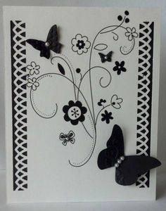 Stampin' Up! Beautiful Butterflies embosslit die & Rub Ons Martha Stewart punch