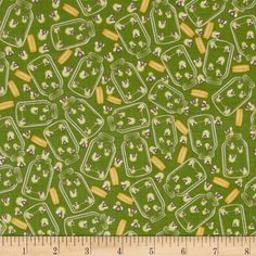 Riley Blake Camp a Lot Fireflies Green from @fabricdotcom  Designed by Bo Bunny for Riley Blake, this cotton print fabric is perfect for quilting, apparel, crafts, and home decor items. Colors include green, yellow, and cream.