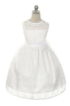 Girls First Communion Dress/ Flower Girl by Toocutepartyprincess, $65.00