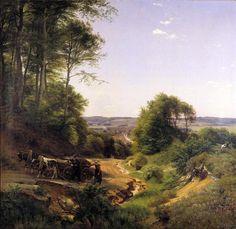 Peter Christian Skovgaard – Vejle Kunstmuseum. Udsigt over Vejle (1852)