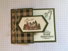 Stamped Christmas Cards, Christmas Greeting Cards, Holiday Cards, Hand Made Greeting Cards, Making Greeting Cards, Christmas Lodge, Christmas 2019, Plaid Christmas, Birthday Card Design
