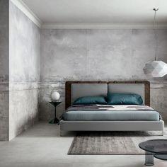 Studio Zanellato/Bortotto design wall panels that create the illusion of age for CEDIT (Dezeen) Bed Design, Wall Design, Vinyl Window Trim, Concrete Interiors, Bedroom Bed, Bedrooms, Bedroom Ideas, Commercial Interior Design, Dezeen