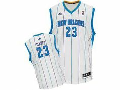 26afdc45595 Adidas NBA New Orleans Hornets 23 Anthony Davis New Revolution 30 Swingman  White Home Jersey