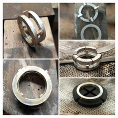 Making of Ring Silber mit Ebenholz #handmadejewlery #schmuck #ring #unisex #silber #ebenholz #handmade