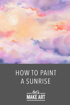 Check out this beginner watercolor art kit where we get a taste of that magical sunset sky with some misty mountains and black pines thrown in there. This art project is a great way to practice color transitions, value, and detail work. It might seem overwhelming at first, but we break it down into five easy steps that will ensure a colorful, mystical landscape that you painted yourself! #artkit #watercolorpainting #letsmakeart Watercolor Clouds, Watercolor Brush Pen, Watercolor Art Diy, Watercolor Sketchbook, Watercolor Projects, Watercolor Tutorials, Watercolor Techniques, Art Tutorials, Watercolor Paintings