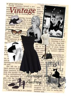 """""""Merilyn and Audrey vintage"""" by b-r1ta on Polyvore featuring mode, Amanti Art, Aspinal of London, Stuart Weitzman, Black et vintage"""