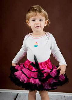 Karolina in out hot pink ribbon petti