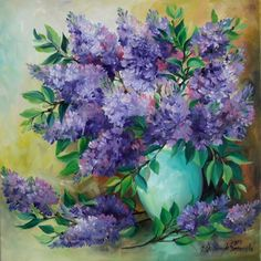 Lilacs Impression Fine Original Oil Painting Europe Artist Still Life Purple #Impressionism