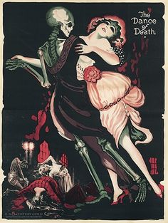 The Dance of Death – 1919 Fritz Lang film poster, Century Guild Gallery, Los Angeles | Rare, turn-of-the-century macabre movie posters