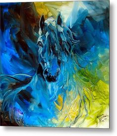 """""""BLUE GHOST FRIESIAN"""" by Marcia Baldwin: From my original oil painting, Blue Ghost Friesian, this print will surely become a favorite of Horse Lovers. Enjoy this abstract in golds and blues. The dynamic brush strokes display wonderfully i. Wall Art Prints, Fine Art Prints, Canvas Prints, Framed Prints, Art Fou, Kunst Portfolio, Fine Art Amerika, My Art Studio, Horse Pictures"""