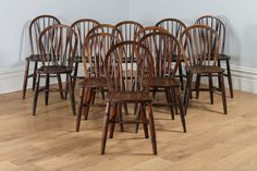 Antique Set of 12 Twelve English Ash & Elm Hoop / Stick / Spindle Back Kitchen Dining Chairs (Circa 1900) by YolaGrayAntiques on Etsy https://www.etsy.com/uk/listing/480775537/antique-set-of-12-twelve-english-ash-elm