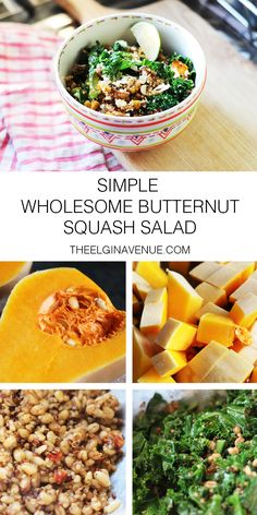 Simple Wholesome Butternut Squash Salad Recipe | The Elgin Avenue Blog