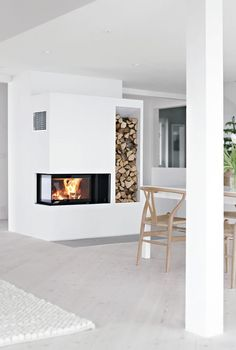 S&D replace old fireplace in family rm with Nordpeis_panama.check this modular insert for fireplace. Fireplace Hearth, Home Fireplace, Modern Fireplace, Living Room With Fireplace, Fireplace Design, Fireplaces, Interior Architecture, Interior Design, My Dream Home