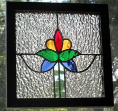 Stained Glass Traditional Edwardian Panel by RomanickStainedGlass