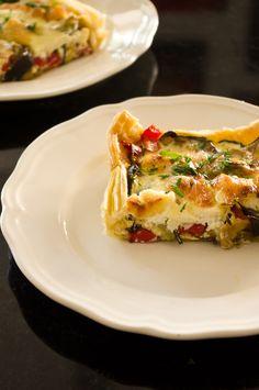 Blätterteig-Gemüse-Ricotta-Tarte