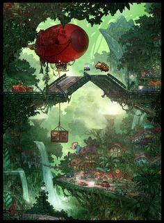 Concept Arts de Matthias Lechner para o filme Zootopia (post#2) | THECAB - The Concept Art Blog
