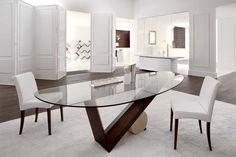 Modern Dining Table Design – How to Shop Online Like a Pro Oval Glass Dining Table, Wooden Dining Tables, Dining Table Design, Dining Decor, Dining Room Furniture, Dining Chairs, Furniture Stores, Room Chairs, Esstisch Design
