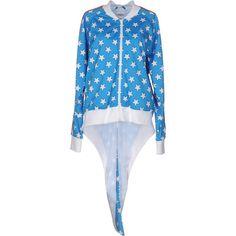 Adidas Originals By Jeremy Scott Sweatshirt ($105) ❤ liked on Polyvore featuring azure