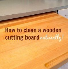 a wooden cutting board that's about to get cleaned and deodorized