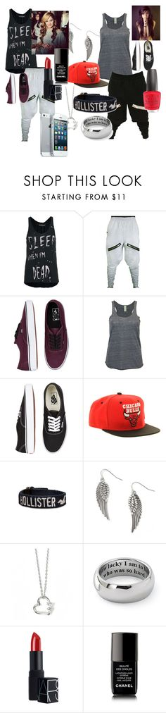 """""""See"""" by valechachilittle ❤ liked on Polyvore featuring Religion Clothing, Vans, Alternative, Mitchell & Ness, Hollister Co., NARS Cosmetics and Chanel"""