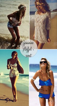 I'm not ready for summer yet, but these outfits make me wanna go to the beach!