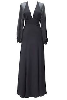 Ossie Clark dress - aka modern Morticia