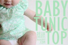 delia creates: Green: Baby Tunic Top
