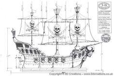 Decor: Jolly Roger Pirate Ship
