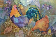 Here is a very colorful painting of some 'Yard Birds' by Belinda Bogardus Davis. Like many of us, Belinda says she does not have time to paint every day, but it sure looks like she knows what she is doing. Thank you for sharing your work! #watercolorpainting #artwork