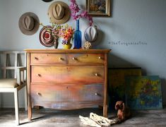 The Turquoise Iris ~ Vintage Modern Hand Painted Furniture: Conviction or Mainstream? I'm Learning With Every New Piece
